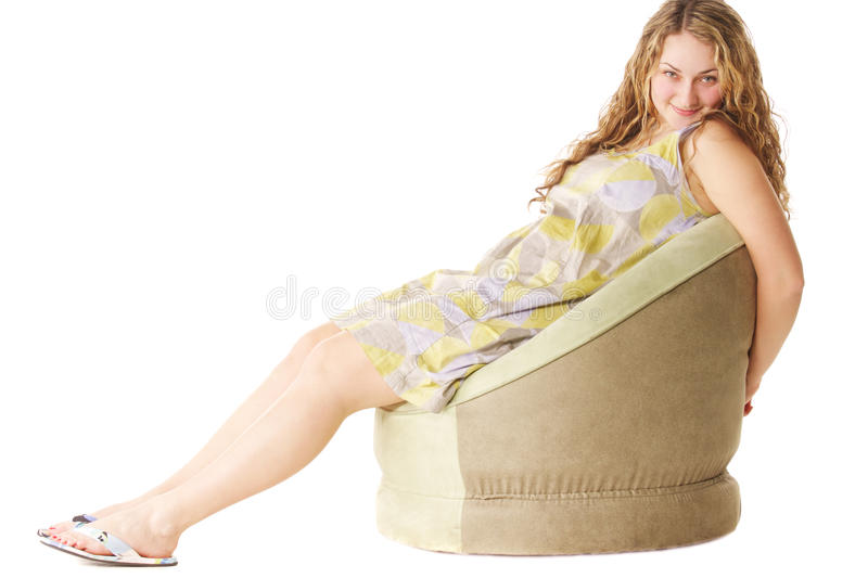 Arms Behind Chair Royalty Free Stock Images