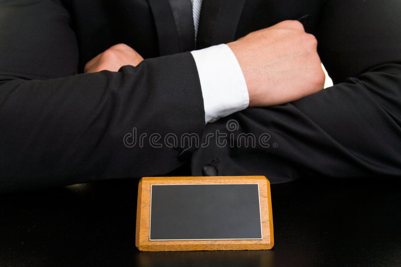 Arms crossed royalty free stock image