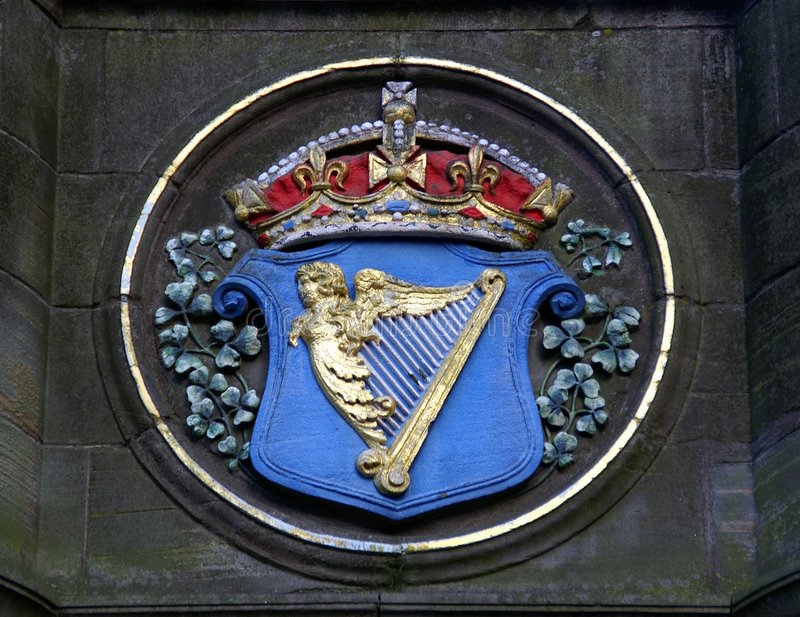 arms den ireland kunglig person royaltyfria foton