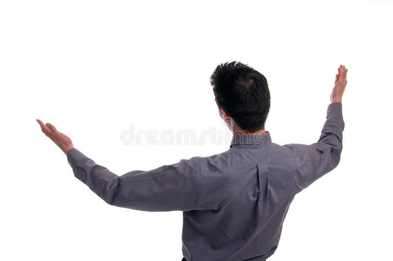 Arms Open Wide stock photography