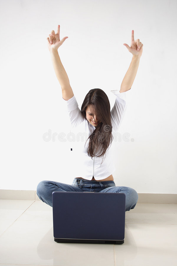 Download Arms Raised stock photo. Image of raised, down, excitement - 7647012