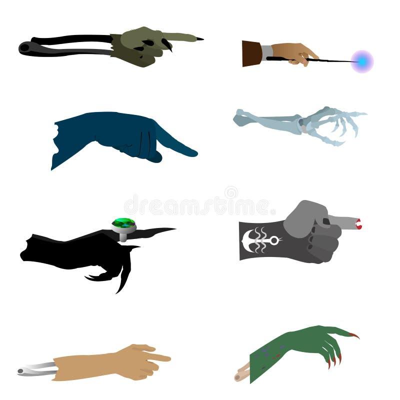 Arms vector art halloween stock illustration