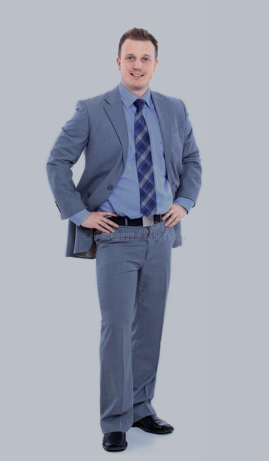 arms white för stående för man för affärsman för affär för backgrounbakgrundshuvuddel säker korsad full lycklig isolerad le arkivfoto