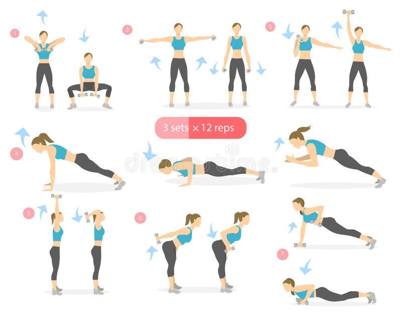 Arms workout set. royalty free illustration