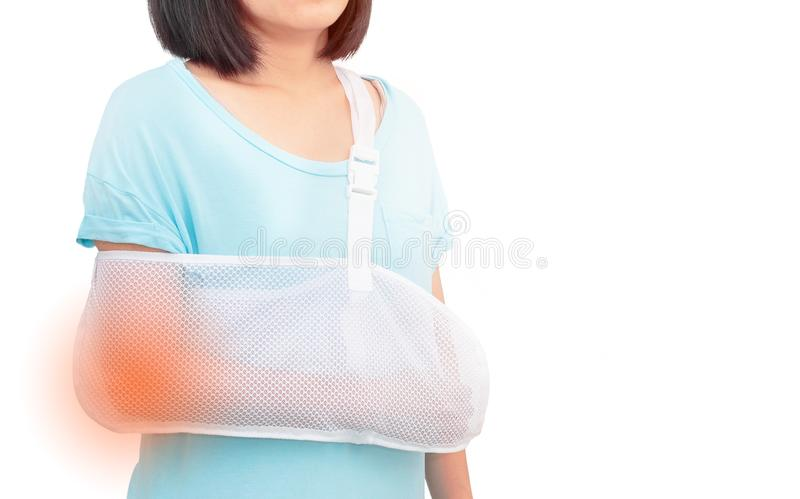 Armschmerzfrau lizenzfreie stockfotografie