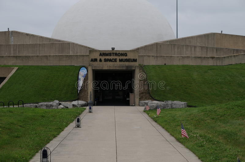 armstrong lucht en spacemuseum in Ohio stock foto's