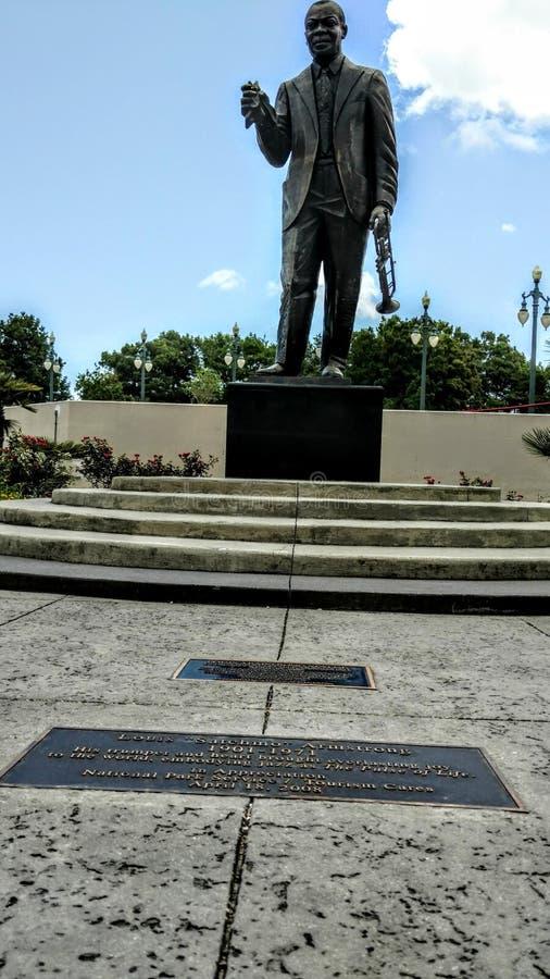 Armstrong parkerar i New Orleans fotografering för bildbyråer