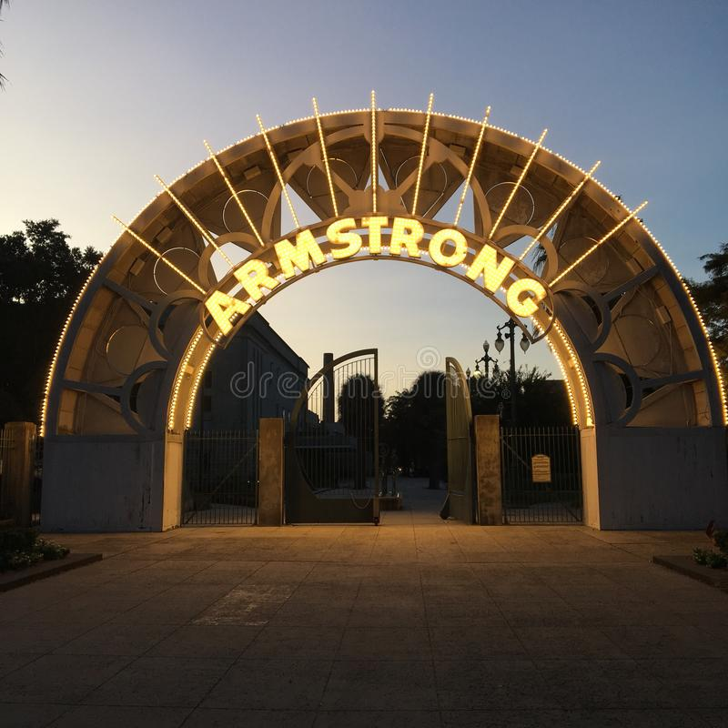Armstrongpark, New Orleans royalty-vrije stock afbeelding