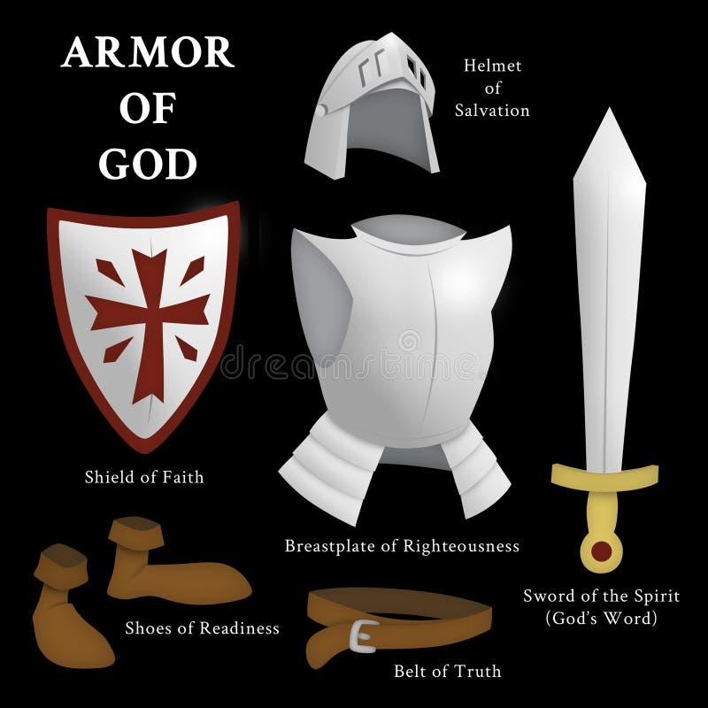 Armure de Dieu illustration stock