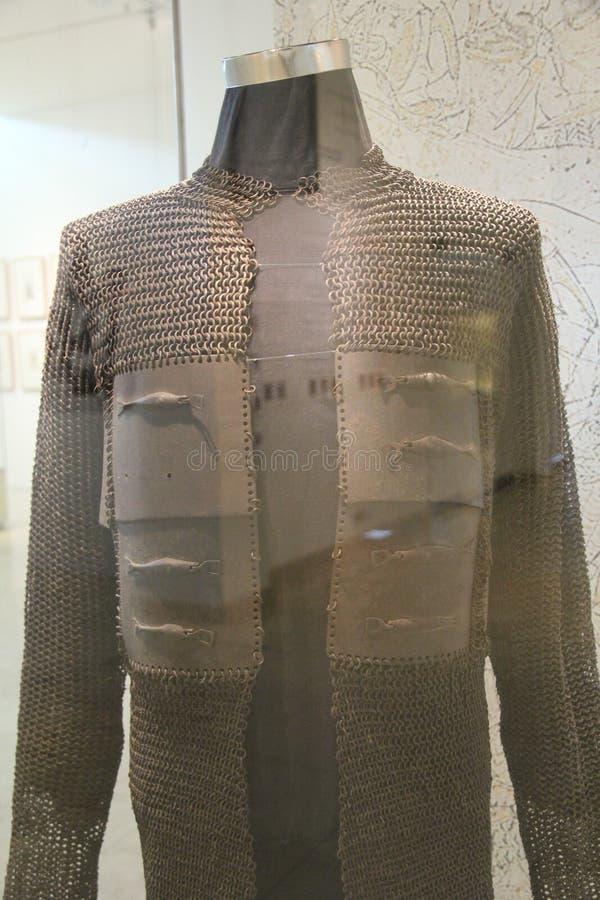Armure du Roi Tipu Sultan utilisée dans les batailles image libre de droits