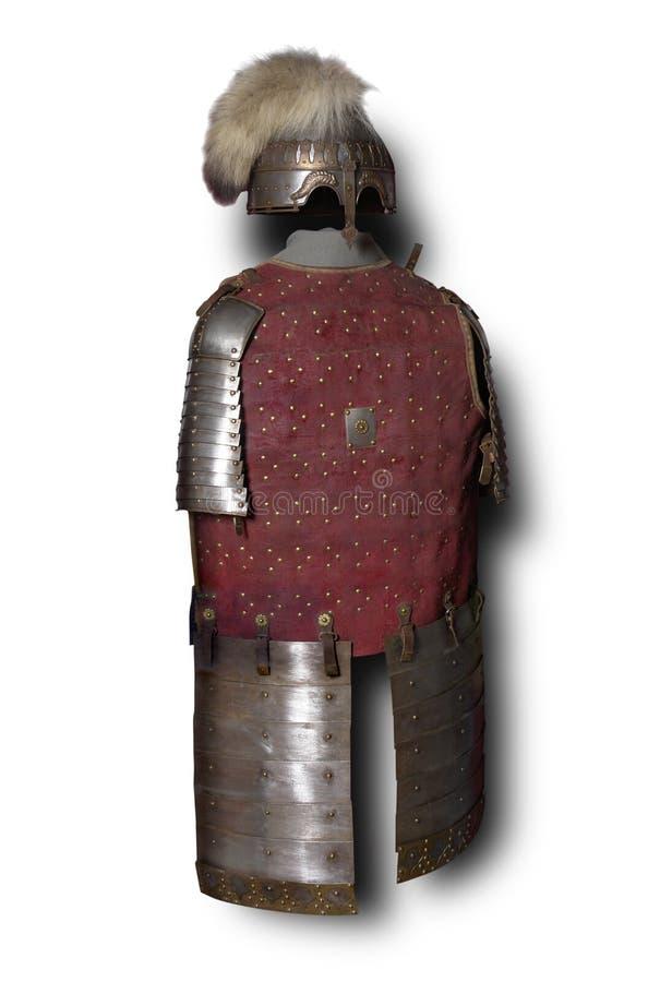 Armure lourde médiévale de guerrier mongol photographie stock libre de droits