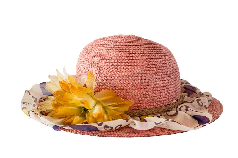 Armure rose de chapeau photo stock