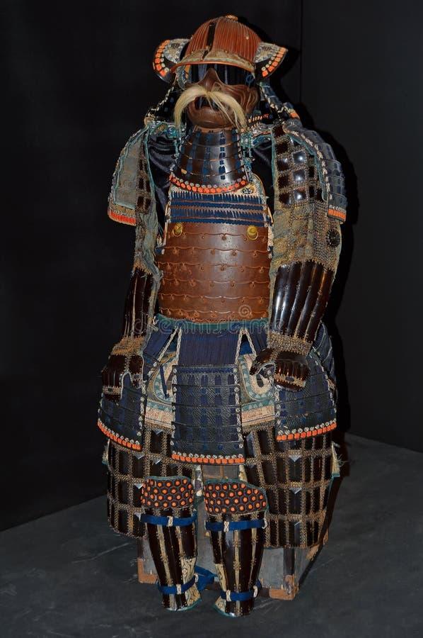 Armure samouraï antique d'o-yoroi photographie stock libre de droits