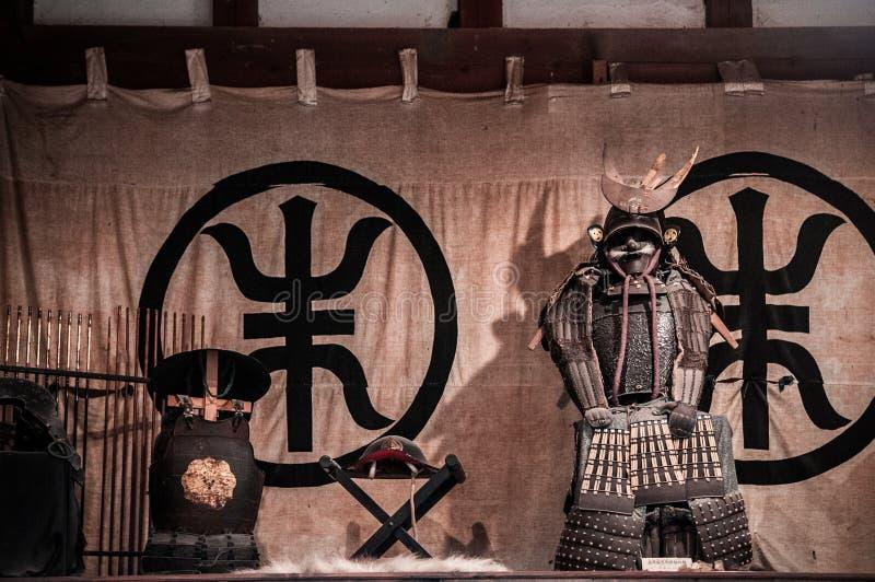 Armure samouraï japonaise d'antiquité de tradition dans la maison samouraï, Kakun photographie stock