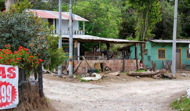 Armut in Bogota stockbilder