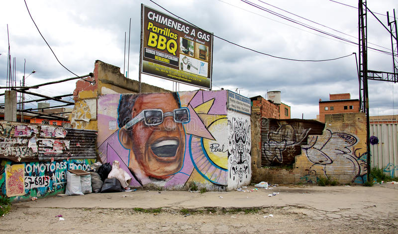Armut in Bogota lizenzfreie stockbilder
