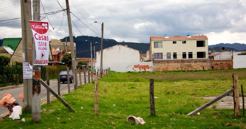 Armut in Bogota stockfotos