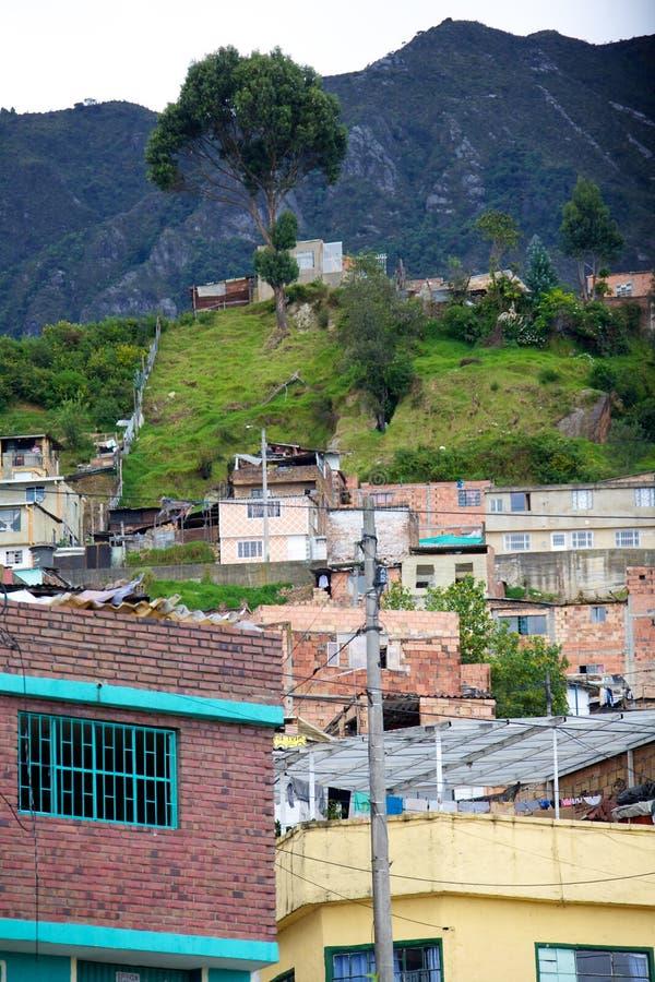Armut in Bogota lizenzfreies stockbild