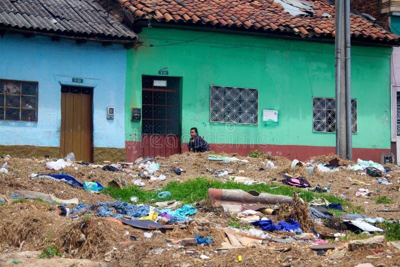 Armut in Bogota lizenzfreie stockfotos