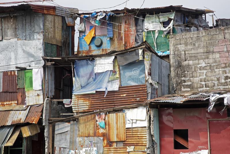 Armut in den Straßen von Manila in den Philippinen stockfotos