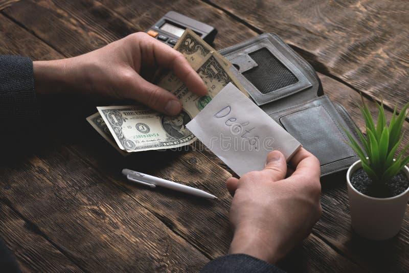 armut schulden sparungen lizenzfreie stockfotos