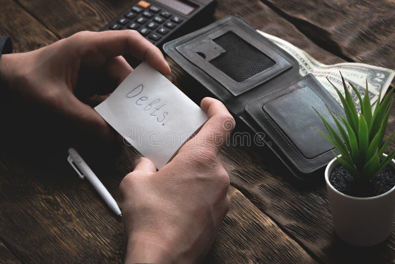 armut schulden sparungen lizenzfreies stockfoto