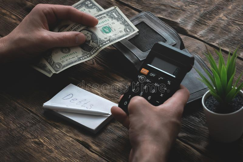 armut schulden sparungen lizenzfreie stockfotografie