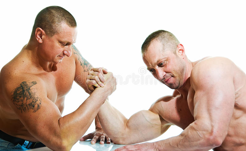 Armwrestling stockfotografie