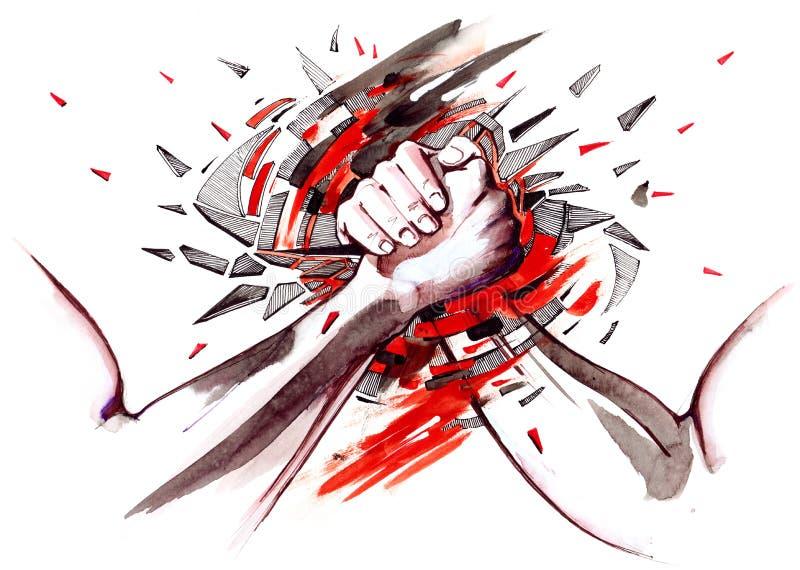 Armwrestling ελεύθερη απεικόνιση δικαιώματος