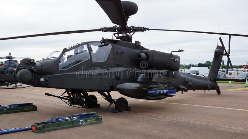 Army Apache. At the RIAT 2016 stock photos