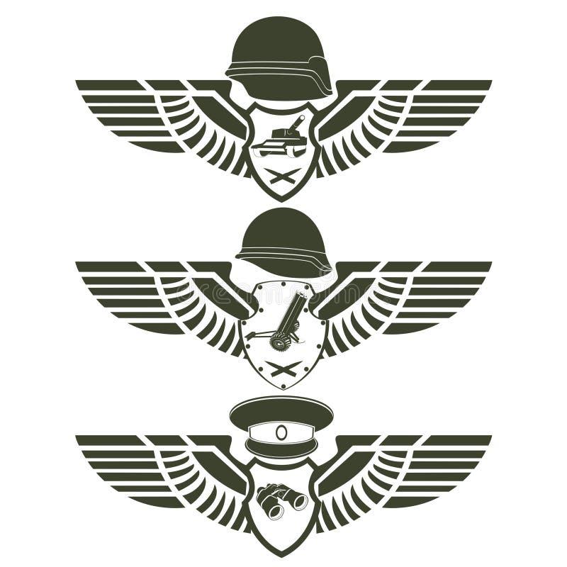 army badges 1 stock vector illustration of white dangerous 40637535 rh dreamstime com Pilot Wings Vector Angel Wings Vector