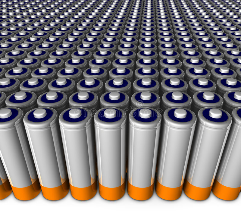 Download Army of batteries stock illustration. Illustration of negative - 3298930
