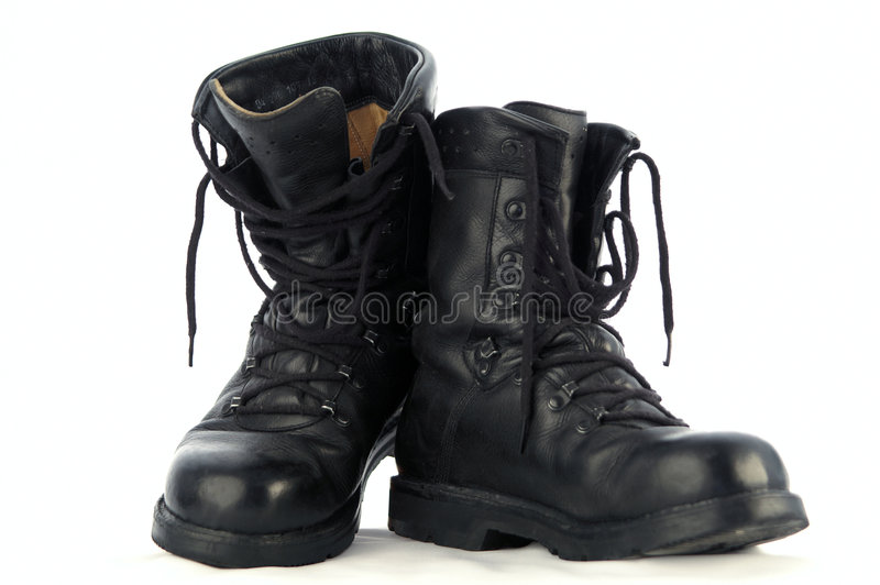Download Army Boots stock photo. Image of worn, laces, foot, leather - 485936