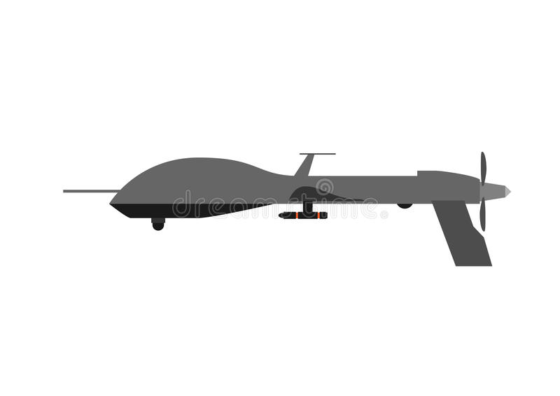 Army drone. On a white background stock illustration