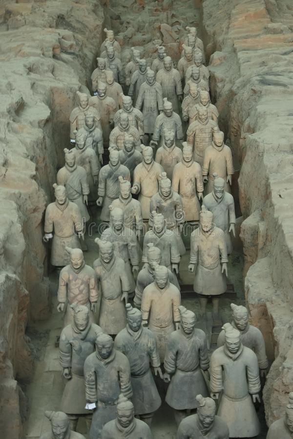 The army of the eternal emperor. royalty free stock photos
