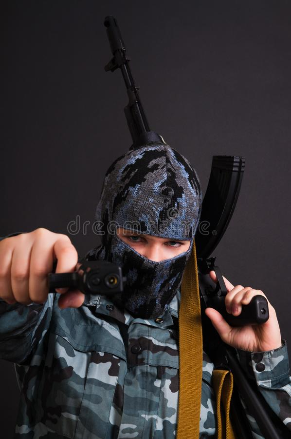 Download Army girl stock photo. Image of battle, armed, desert - 17823570