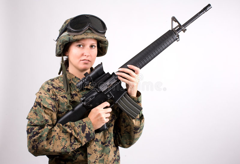 Download Army girl stock photo. Image of army, american, violet - 6457048