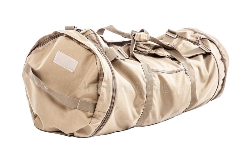 Army gym bag royalty free stock images