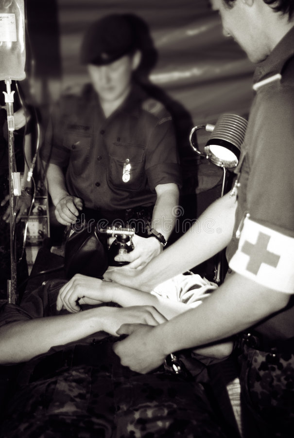 Free Army Hospital War Zone Royalty Free Stock Photography - 926787