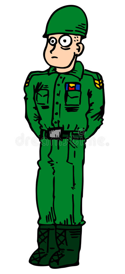 Download Army man stock vector. Image of comic, green, hand, style - 22557605