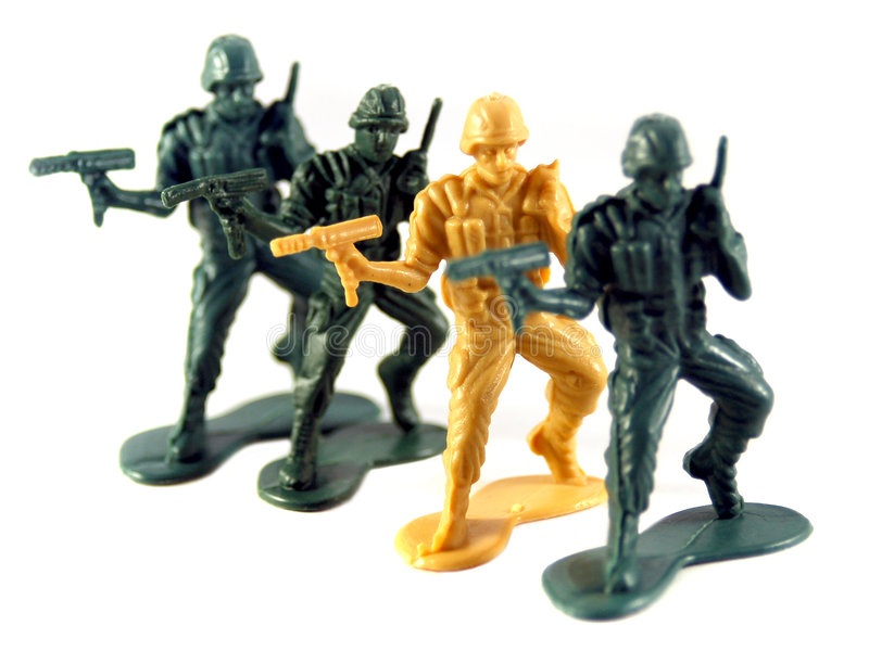 Army Men stock photography