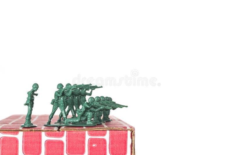 Army Men Guarding Base stock photography