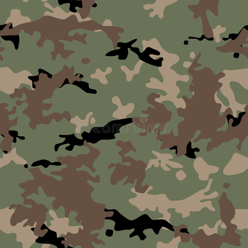 Army Military Camouflage Seamless Pattern Royalty Free Stock Image