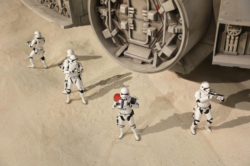 Army of miniature model Stormtroope. The army of miniature model Stormtroope stock photography