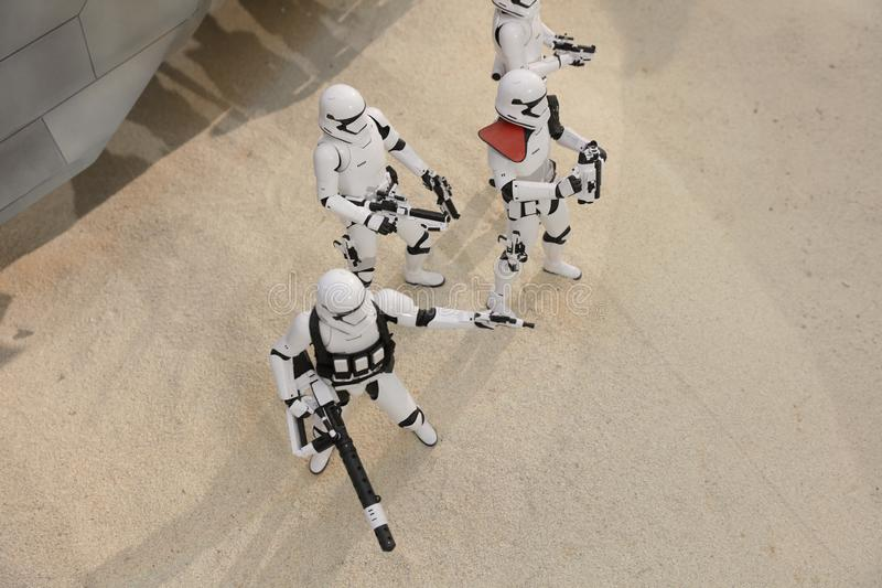Army of miniature model Stormtroope. The army of miniature model Stormtroope royalty free stock images