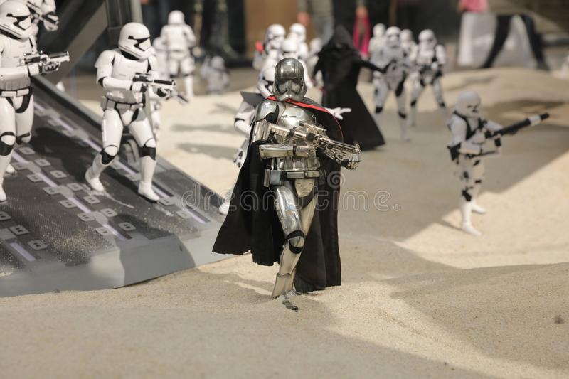 Army of miniature model Stormtroope. The army of miniature model Stormtroope royalty free stock photography