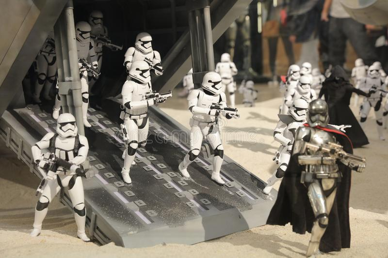 Army of miniature model Stormtroope. The army of miniature model Stormtroope royalty free stock image