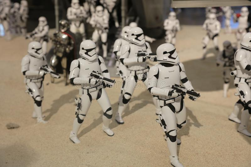 Army of miniature model Stormtroope. The army of miniature model Stormtroope stock photos