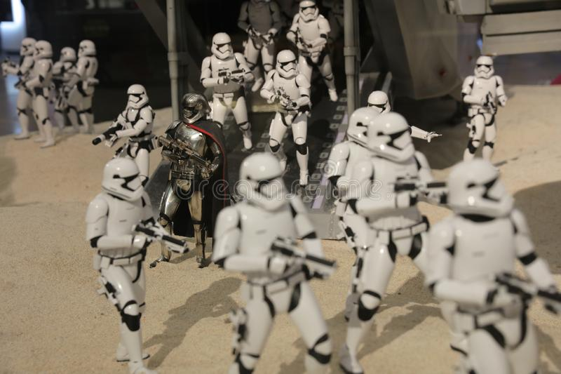 Army of miniature model Stormtroope. The army of miniature model Stormtroope stock image