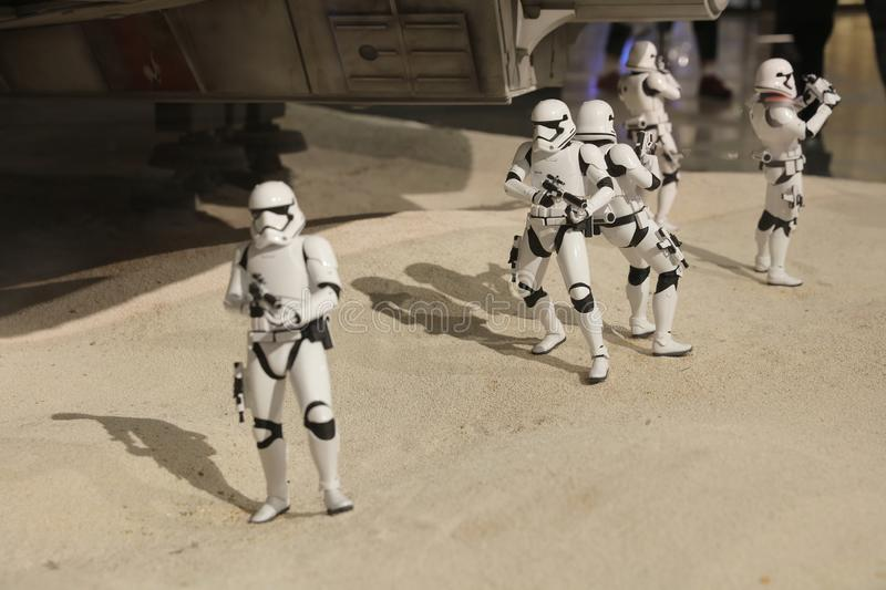 Army of miniature model Stormtroope. The army of miniature model Stormtroope royalty free stock photo